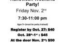 Halloween Weekend PNO Party – Nov 2